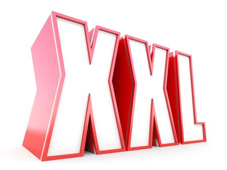 massy: XXL size 3D concept Stock Photo
