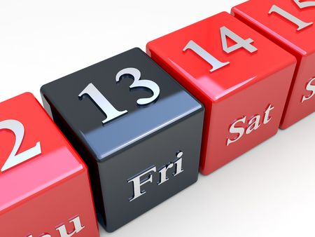 superstitions: Friday the 13th. Bad day - black friday Stock Photo