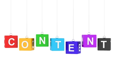 content: Content Stock Photo