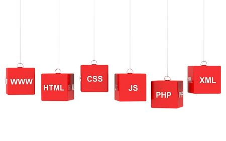 css: Webdesign Internet Concept - important symbols Stock Photo