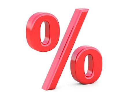 cost reduction: Red percent sign Stock Photo