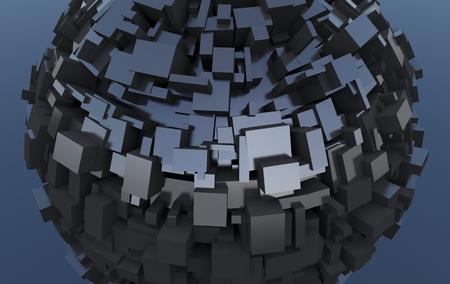 metalic: Futuristic metalic sphere