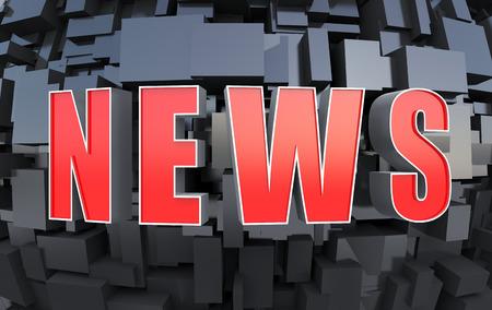 latest: Futuristic NEWS background Stock Photo