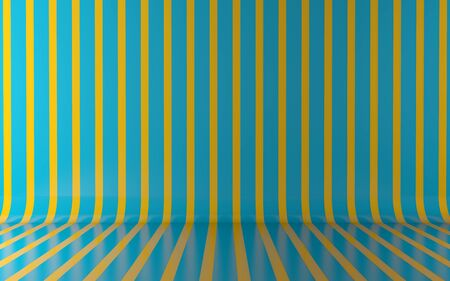 vertical lines: Green vertical lines on wall and floor background Stock Photo