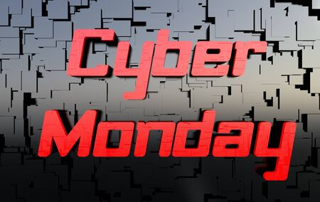 holiday profits: Cyber Monday Stock Photo