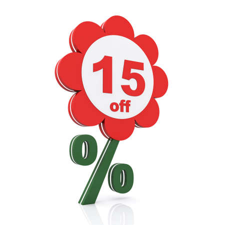 15: 15 percent off. Buy now