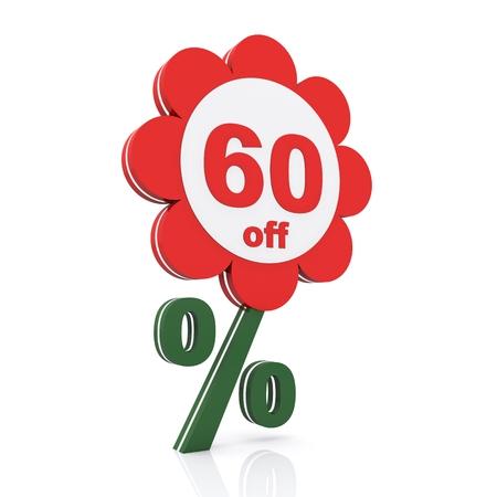 60: 60 percent off. Buy now