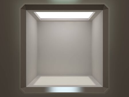 showcase: Empty showcase in modern minimalistic style
