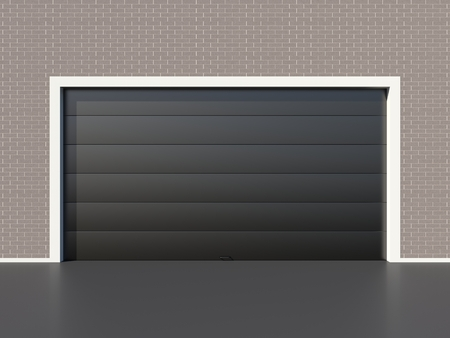 Modern Black Garage Door Stock Photo Picture And Royalty Free Image
