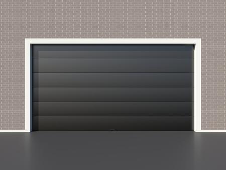 garage door: Modern black garage door
