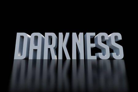 darkness: Darkness word in the dark