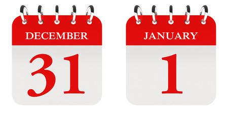 december: December 31 - January 1st Stock Photo