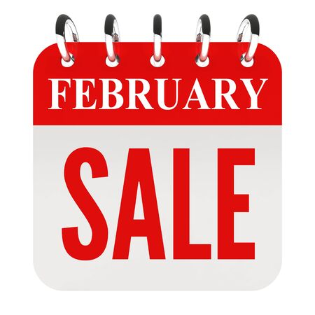 calendar page: February sale on calendar page Stock Photo
