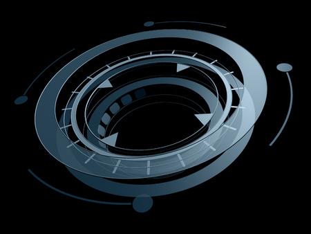 circle shape: Science fiction futuristic circle shape