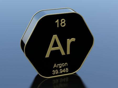 element: Argon element Stock Photo