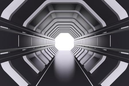 futuristic: Futuristic tunnel