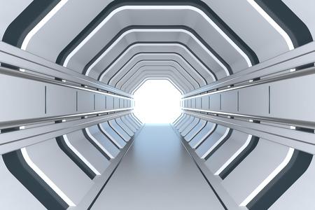 Futuristic tunnel Imagens - 58215014
