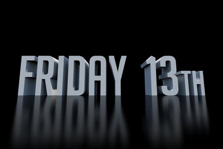 Viernes 13 3D hacen de las letras
