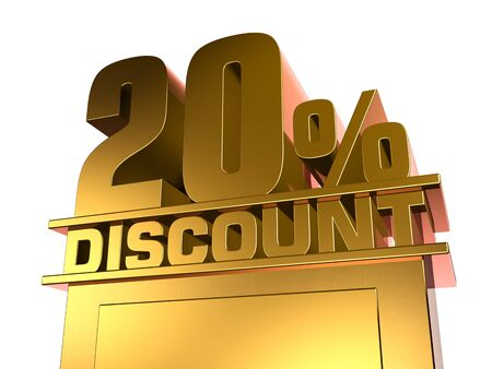 20: 20 percent off discount Stock Photo