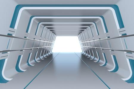 road tunnel: Futuristic tunnel