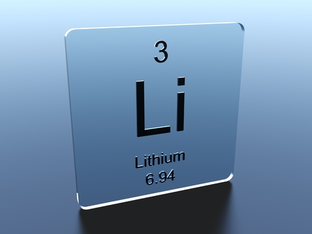 Lithium Chemical Element Symbol From The Periodic Table Displayed