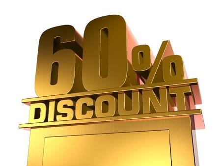 60: 60 percent off discount