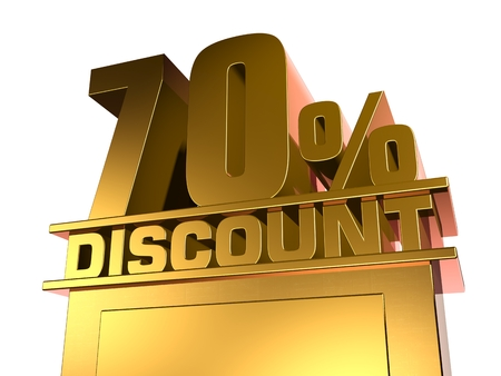 70: 70 percent off discount Stock Photo