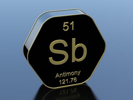 antimony: Antimony hexagonal icon