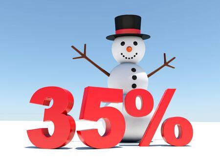 35 percent discount - Happy snowman announces winter discounts