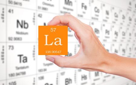 Lanthanum element symbool
