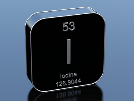 black block: Iodine symbol from periodic table