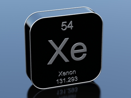 black block: Xenon symbol from periodic table