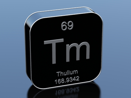 black block: Thulium symbol from periodic table