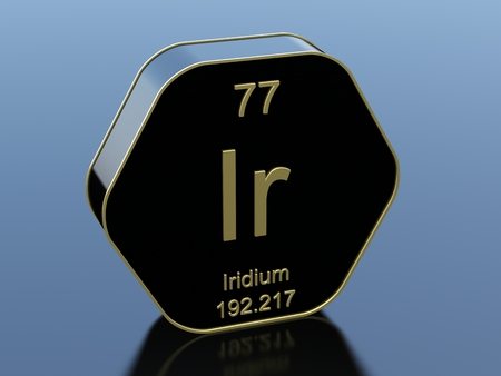 black block: Iridium hexagonal black glossy icon