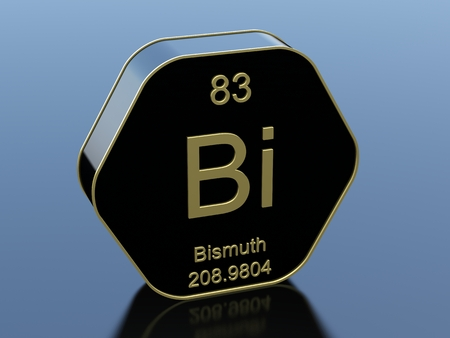 bismuth: Bismuth hexagonal black glossy icon