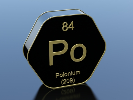 black block: Polonium hexagonal black glossy icon Foto de archivo