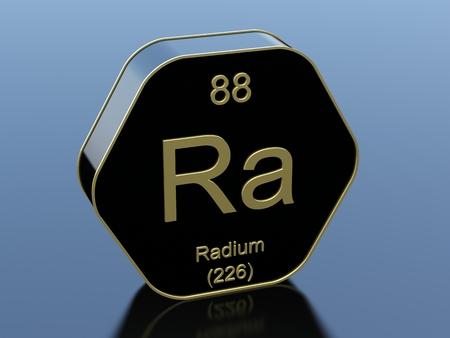 radium: Radium hexagonal black glossy icon Stock Photo