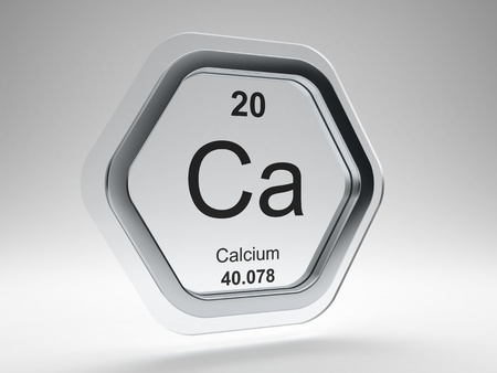 Calcium symbol on modern glass and steel icon Stock Photo