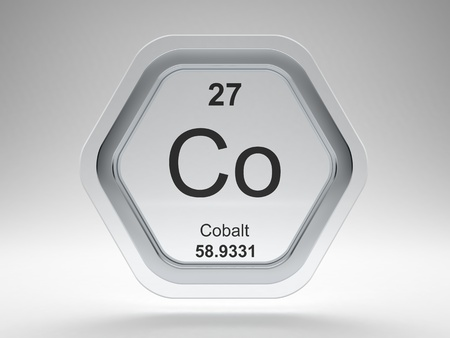 Cobalt symbol on modern glass and steel icon