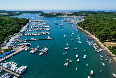 Aerial view of the Marina in Verudela, Croatia