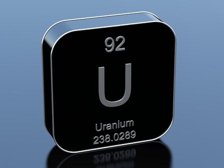 Uranium black glossy 3d icon