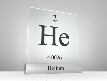 Helium symbol on modern glass and metal icon