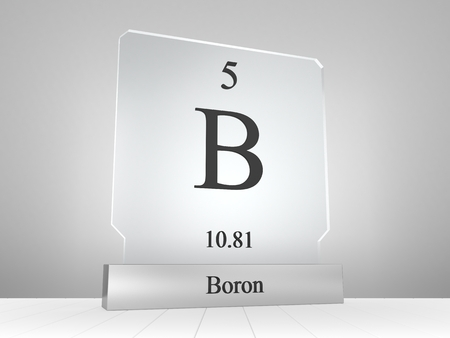 Boron Chemical Element Symbol From The Periodic Table Displayed