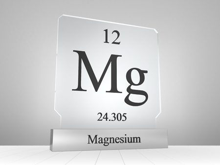 Magnesium symbol on modern glass and metal icon