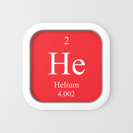 Helium symbol on red rounded square icon