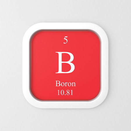 Boron symbol on red rounded square icon Stock Photo