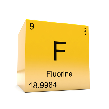 Fluorine Chemical Element Symbol From The Periodic Table Displayed