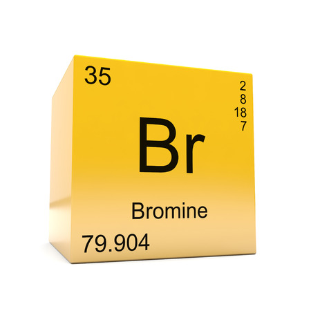 Bromine Chemical Element Symbol From The Periodic Table Displayed