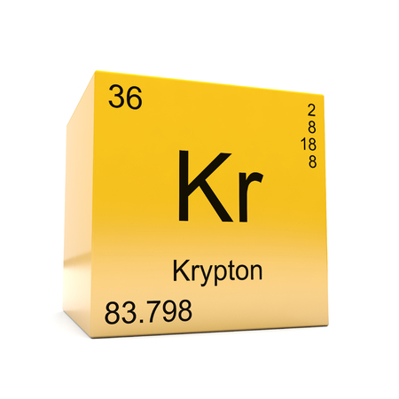 Krypton Chemical Element Symbol From The Periodic Table Displayed