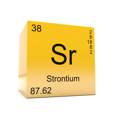 Strontium Chemical Element Symbol From The Periodic Table Displayed